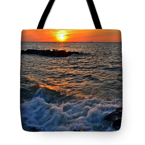The Sun Is Wearing Shades Tote Bag by Frozen in Time Fine Art Photography