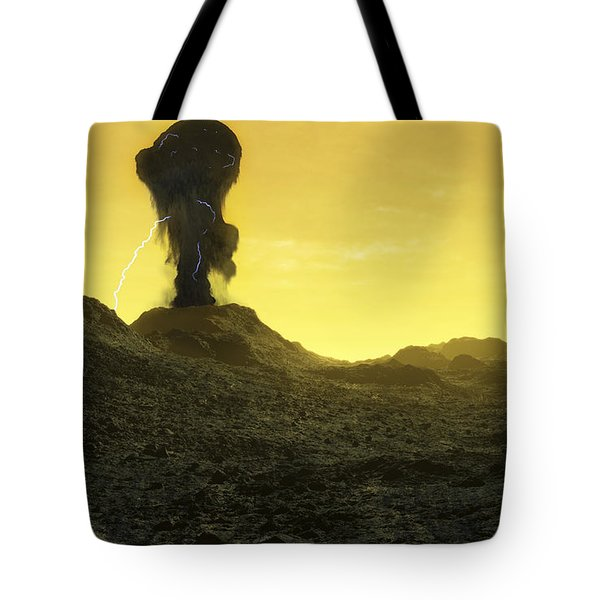 The Surface Of An Infernal Planet Tote Bag by Fahad Sulehria