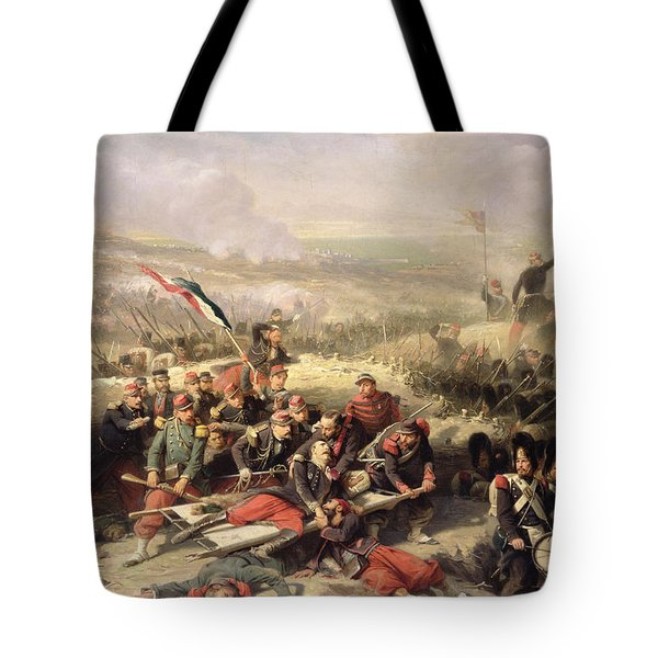 The Taking Of Malakoff Tote Bag by Adolphe Yvon