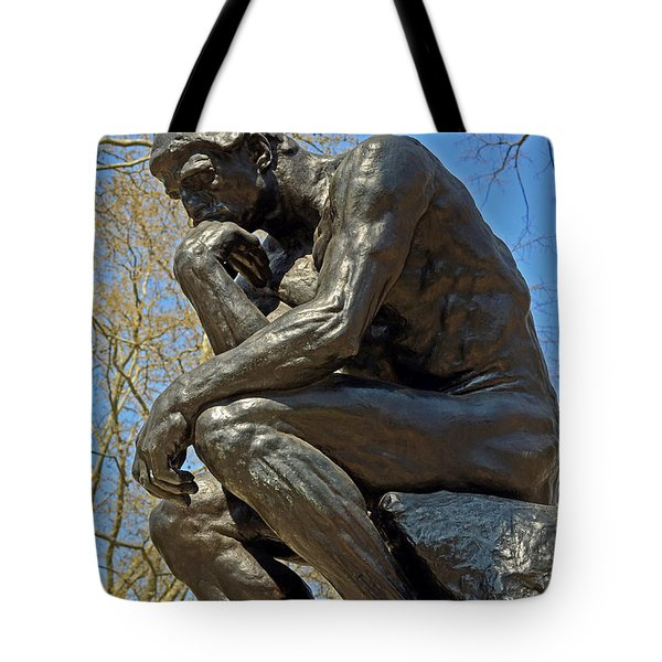 The Thinker By Rodin Tote Bag by Lisa Phillips
