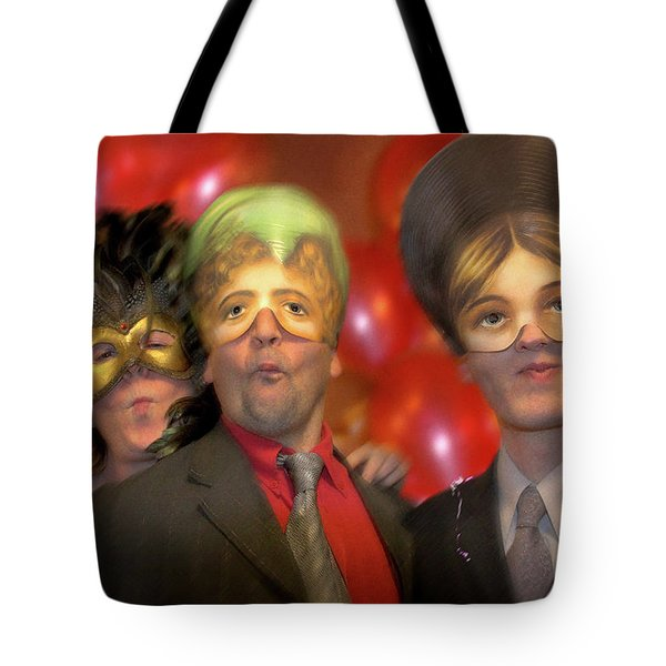 Tote Bag featuring the photograph The Three Masketeers by Richard Piper