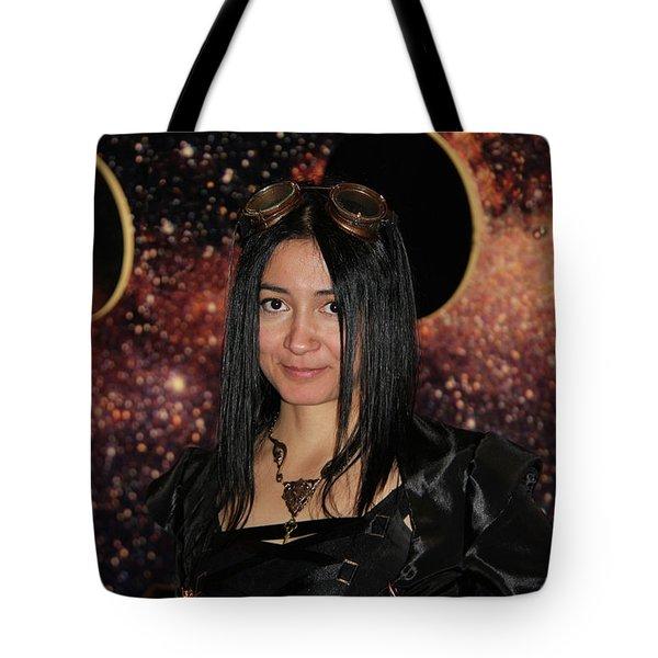 The Time Traveler  Tote Bag by Mariola Bitner