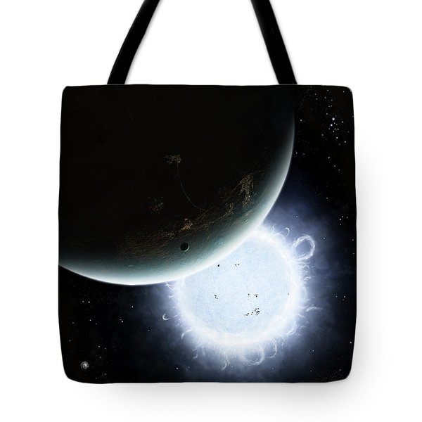 The Tiny Moon Rakka Ume Travels Tote Bag by Brian Christensen