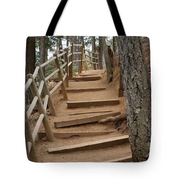 The Trail To The Top Tote Bag by Ernie Echols