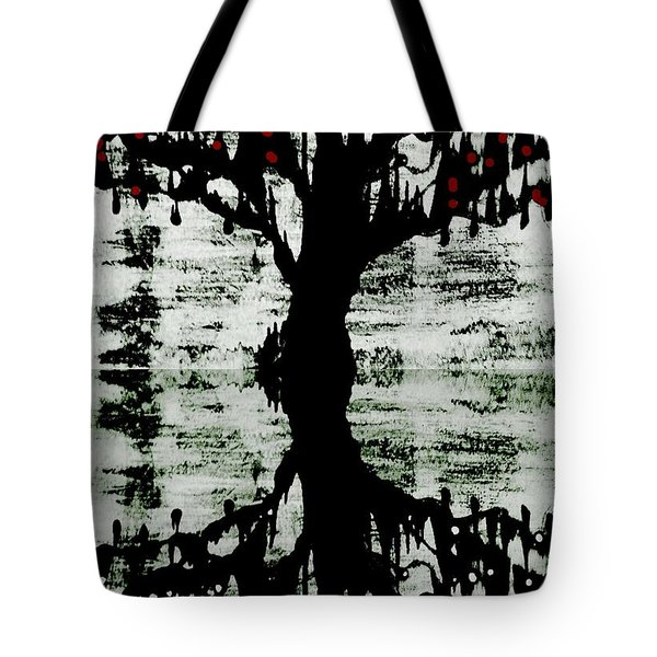 Tote Bag featuring the painting The Tree The Root by Amy Sorrell