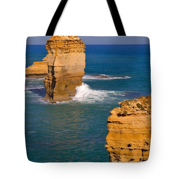 The Twelve Apostles In Port Campbell National Park Australia Tote Bag by Louise Heusinkveld