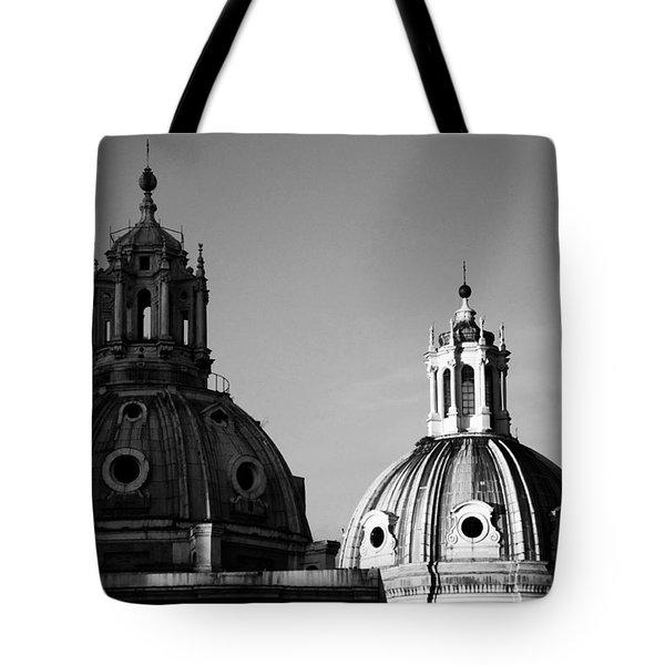 The Twin Domes Of S. Maria Di Loreto And Ss. Nome Di Maria Tote Bag by Fabrizio Troiani