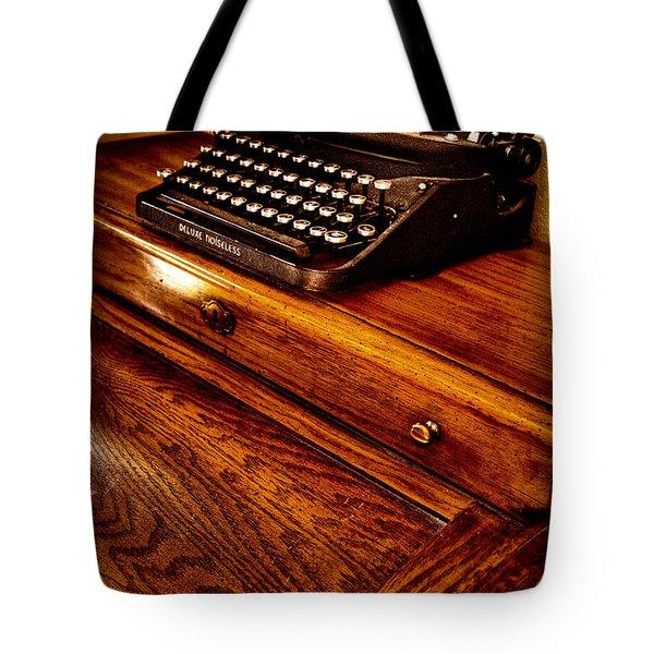 The Typewriter Tote Bag by David Patterson
