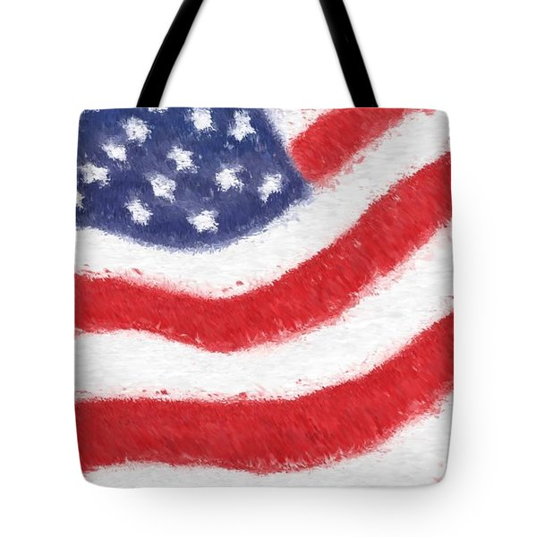 The United States Flag Tote Bag by Heidi Smith