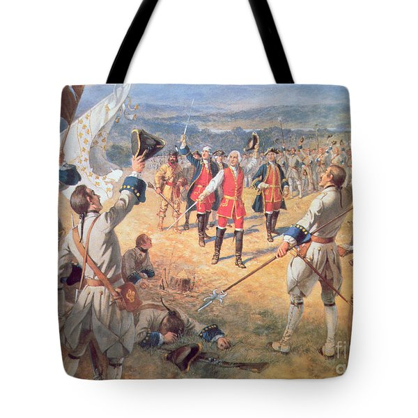 The Victory Of Montcalms Troops At Carillon Tote Bag by Henry Alexander Ogden