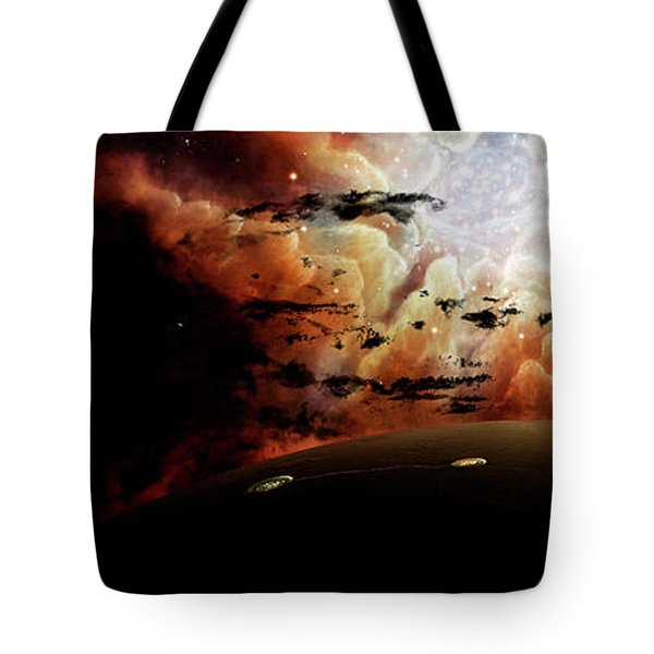 The View From A Busy Planetary System Tote Bag by Brian Christensen