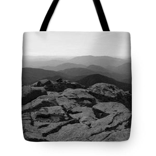 The View North From Mt. Marcy Black And White Three Tote Bag