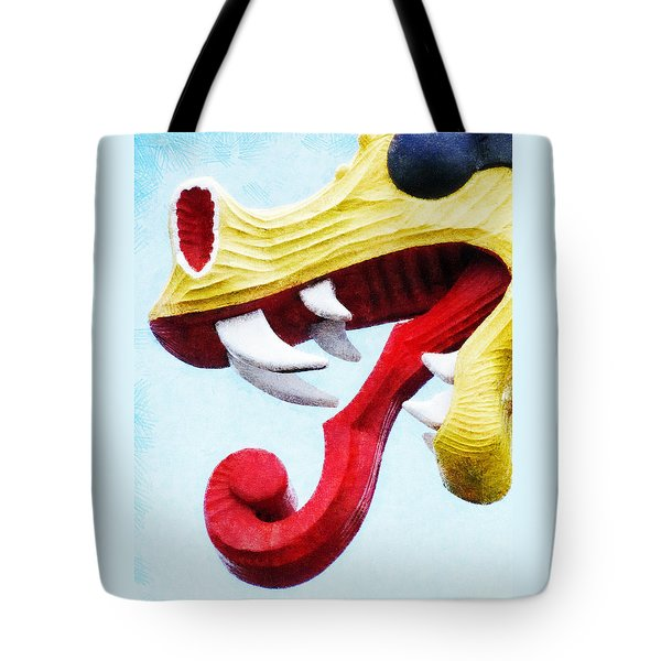 Tote Bag featuring the photograph The Viking Dragon by Steve Taylor