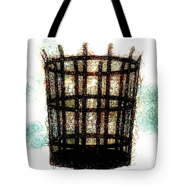 Tote Bag featuring the digital art The Viking Flame  by Steve Taylor