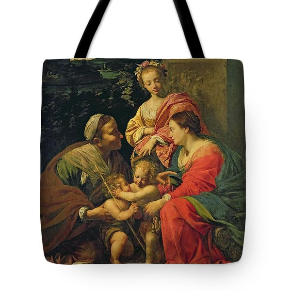 The Virgin And Child With Saints Tote Bag by Simon Vouet