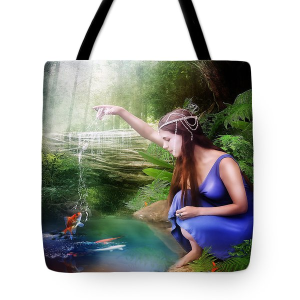 The Water Hole Tote Bag by Mary Hood