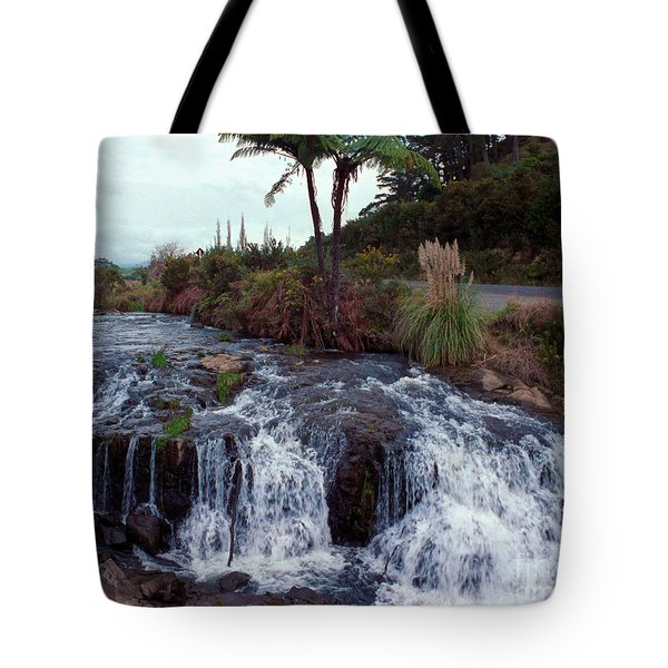 The Waterfall In The Stream Tote Bag