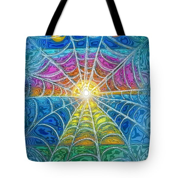 The Web Of Wyrd Tote Bag by Diana Haronis