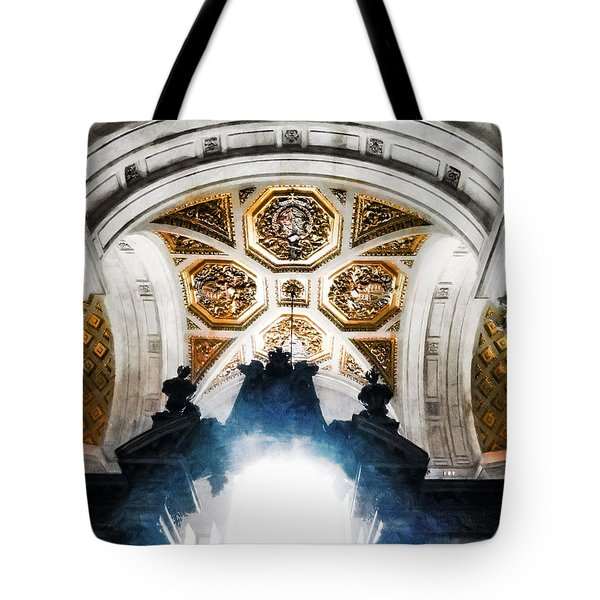 The West Doorway Of St Paul's Cathedral Tote Bag by Steve Taylor