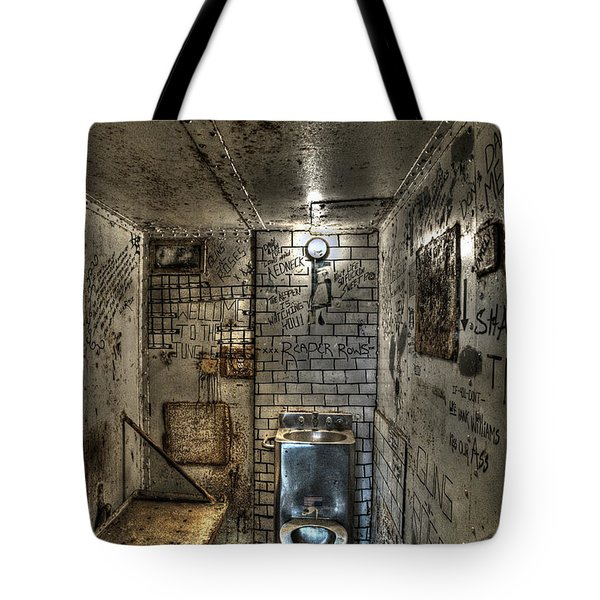The West Virginia State Penitentiary Cell Tote Bag by Dan Friend