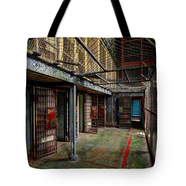The West Virginia State Penitentiary Cells Tote Bag by Dan Friend