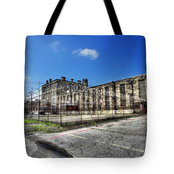 The West Virginia State Penitentiary Courtyard Outside Tote Bag by Dan Friend