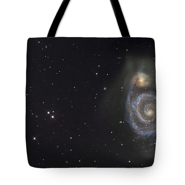 The Whirlpool Galaxy Tote Bag by R Jay GaBany