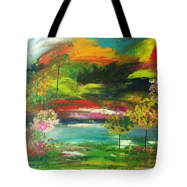 The Wind Blows Tote Bag