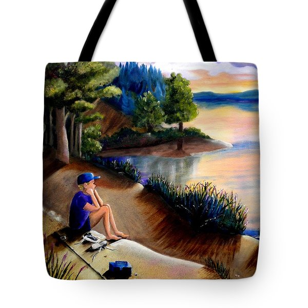 The Wish To Fish Tote Bag by Renate Nadi Wesley