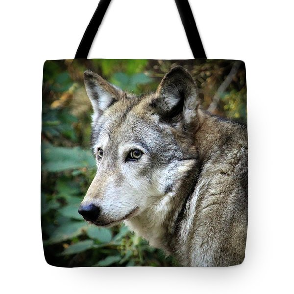 Tote Bag featuring the photograph The Wolf by Steve McKinzie