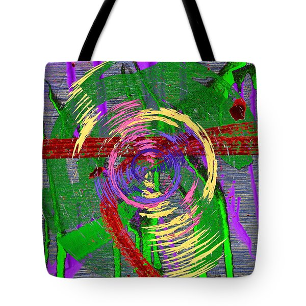 The Writing On The Wall 9 Tote Bag by Tim Allen