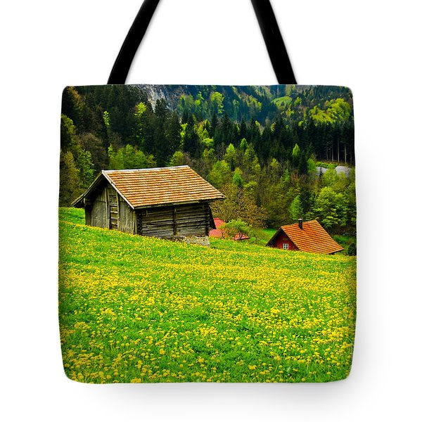The Yellow Around Tote Bag by Syed Aqueel