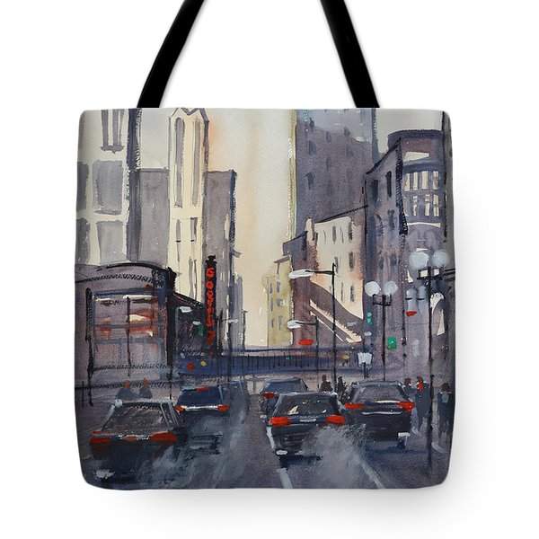 Theatre District - Chicago Tote Bag by Ryan Radke