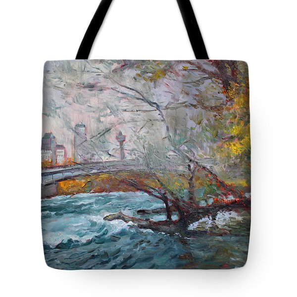 ....then The Rain Started Tote Bag by Ylli Haruni