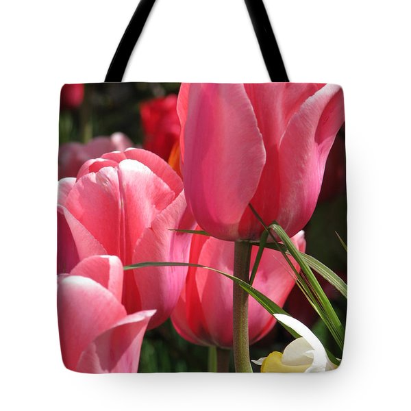 There Is Pink In Heaven Tote Bag by Rory Sagner