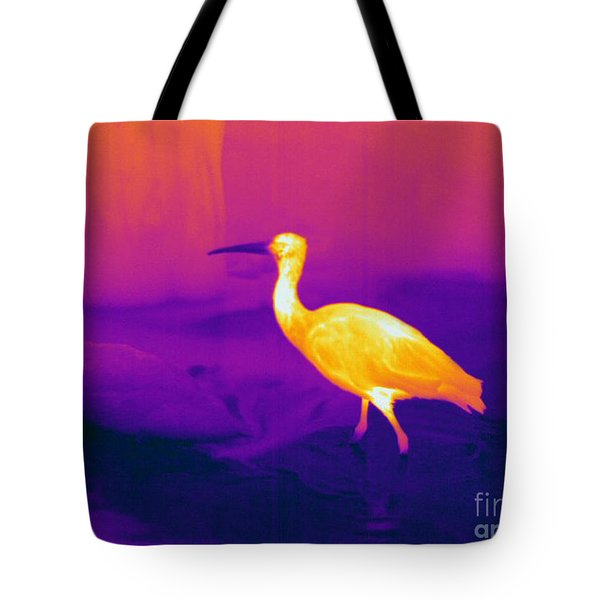 Thermogram Of A Scarlet Ibis Tote Bag