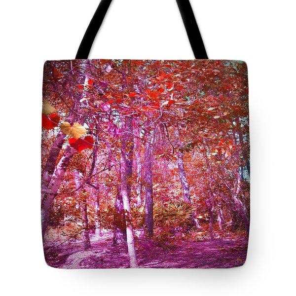Tote Bag featuring the photograph Thicket In Color by George Pedro