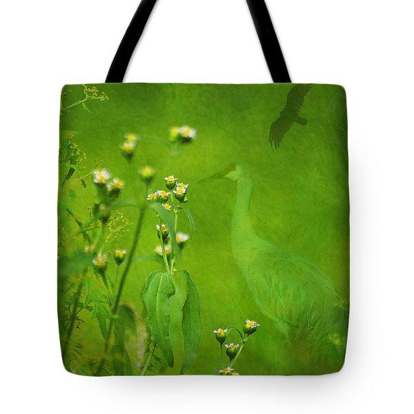 Think Green Tote Bag by Vicki Pelham