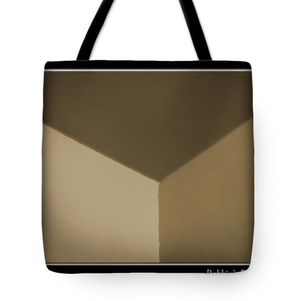 Think Outside Or Inside The Box    Optical Illusion Tote Bag by Debbie Portwood