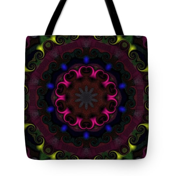 Tote Bag featuring the digital art Think Pink by Alec Drake