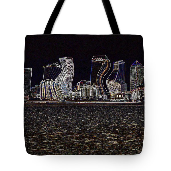 This City Is Rockin' Tote Bag by Carol Groenen
