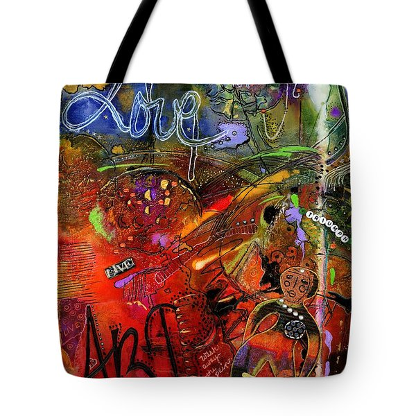 This Doll Loves Art Tote Bag by Angela L Walker