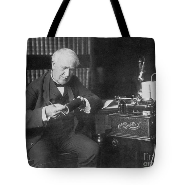 Thomas Edison, American Inventor Tote Bag by Omikron