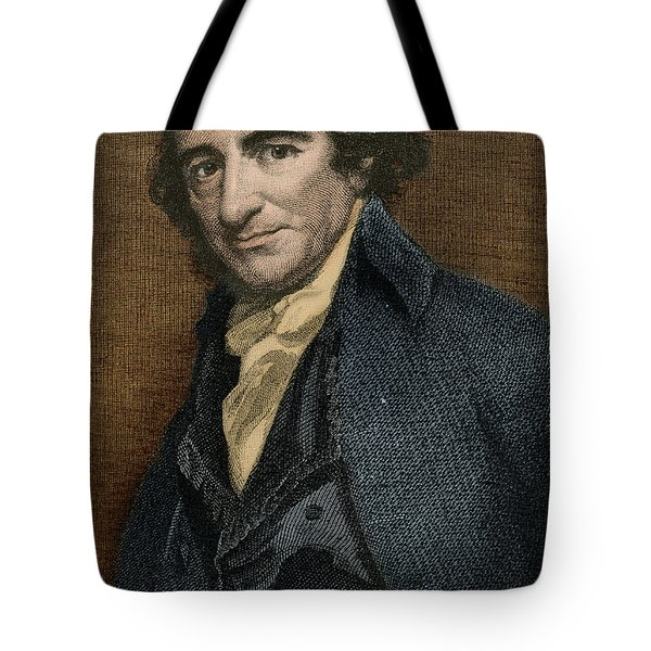 Thomas Paine, American Patriot Tote Bag by Photo Researchers
