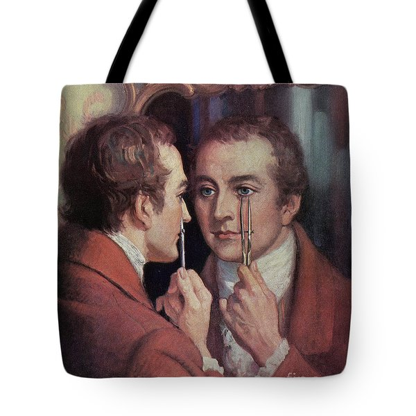 Thomas Young, English Polymath Tote Bag by Science Source