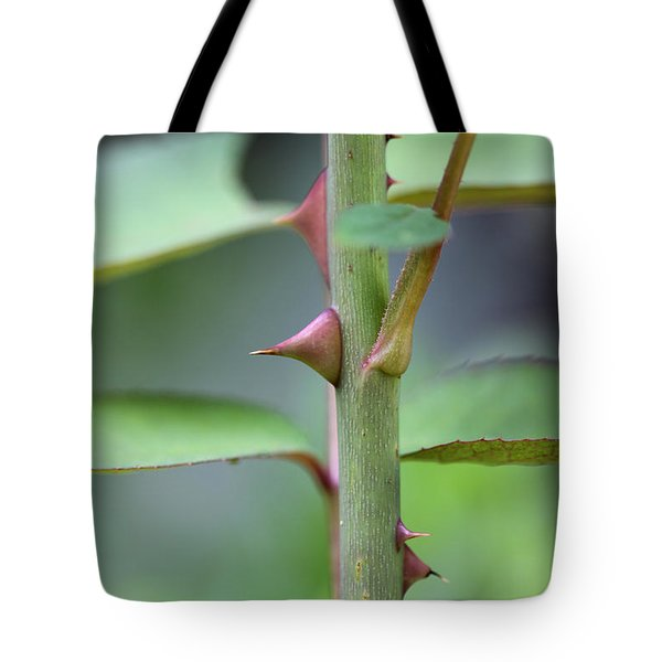 Tote Bag featuring the photograph Thorny Stem by Todd Blanchard