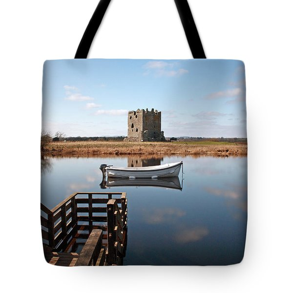 Threave Castle Reflection Tote Bag