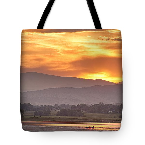 Three Belly Boats Enjoying The View Tote Bag by James BO  Insogna