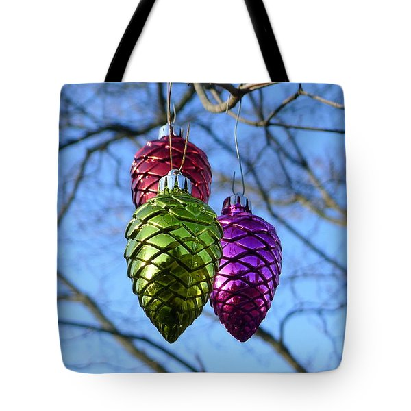 Tote Bag featuring the photograph Three Cones by Richard Reeve