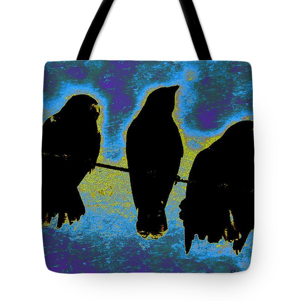Three Crows Tote Bag